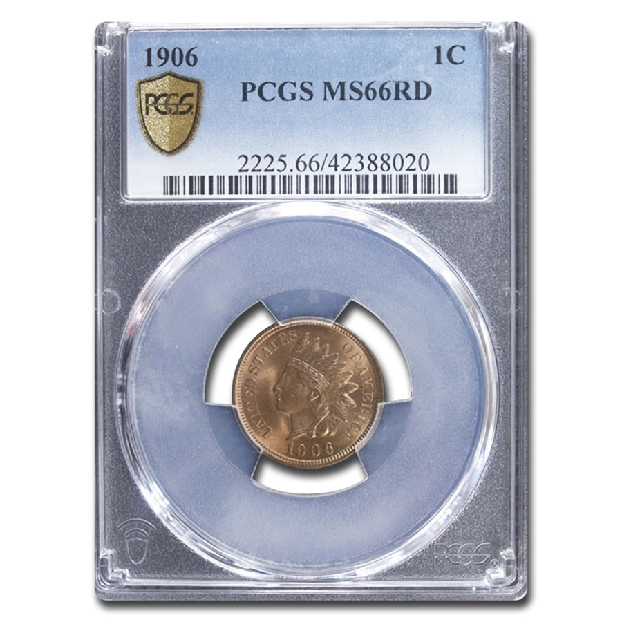 1906 Indian Head Cent MS-66 PCGS (Red)