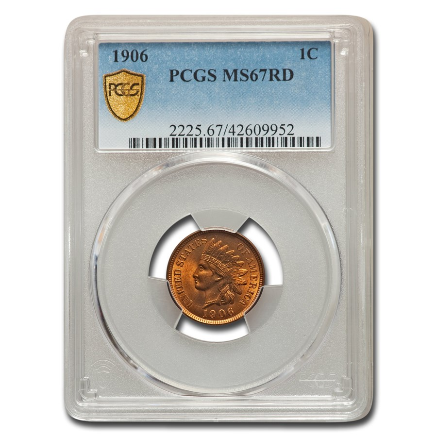 1906 Indian Head Cent MS-67 PCGS (Red)
