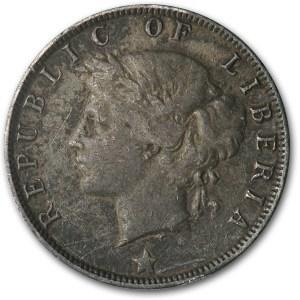 1906 Liberia Silver 25 Cent VF