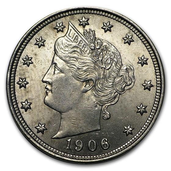 1906 Liberty Head V Nickel BU