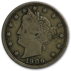1906 Liberty Head V Nickel Fine