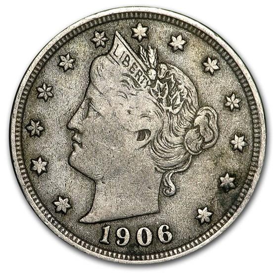 1906 Liberty Head V Nickel VF