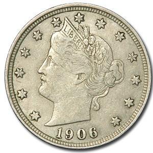 1906 Liberty Head V Nickel XF