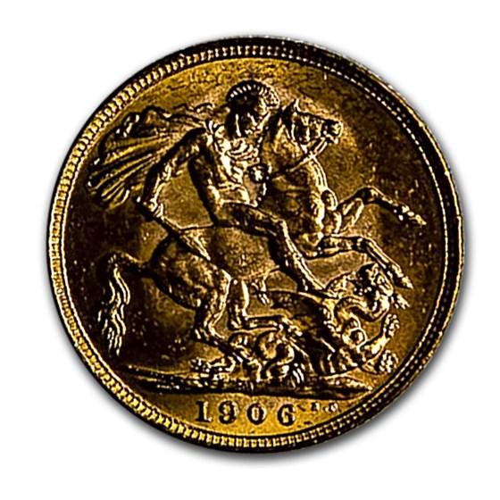 1906-M Australia Gold Sovereign Edward VII BU