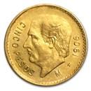 1906 Mexico Gold 5 Pesos XF
