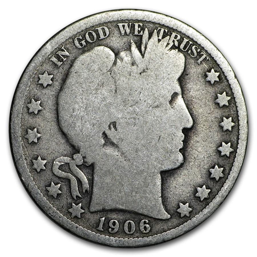1906-O Barber Half Dollar Good
