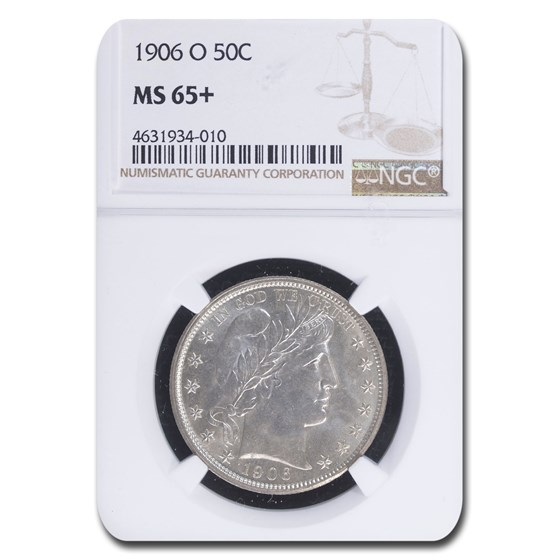 1906-O Barber Half Dollar MS-65+ NGC