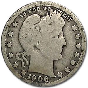 1906-O Barber Quarter Good