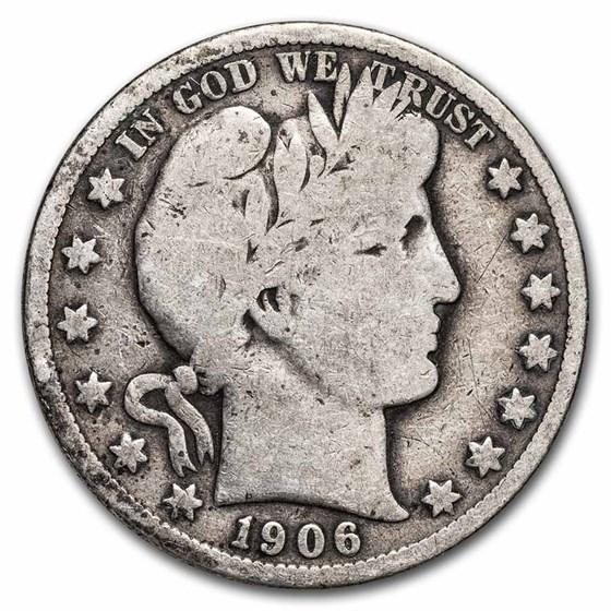 1906-S Barber Half Dollar Good