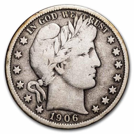 1906-S Barber Half Dollar VG