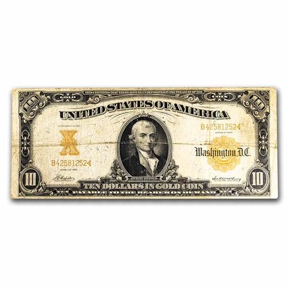 1907 $10 Gold Certificate Choice Fine (Fr#1169A)