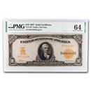 1907 $10 Gold Certificate CU-64 PMG (Fr#1169)