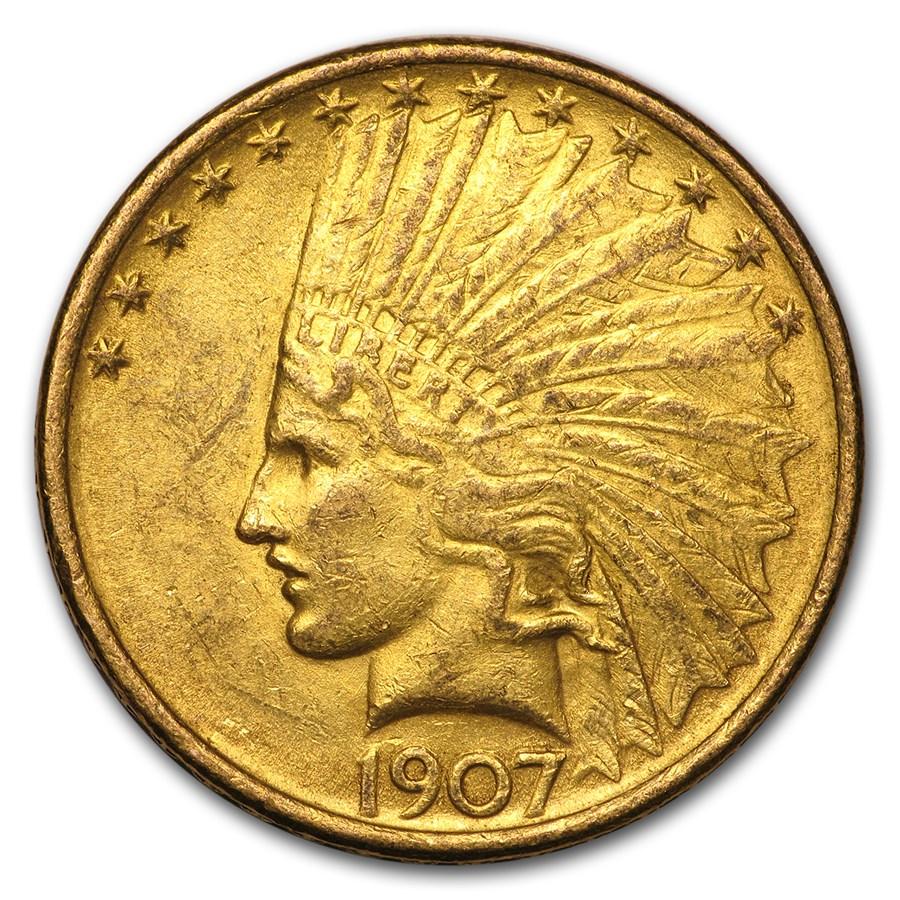 1907 $10 Indian Gold Eagle BU