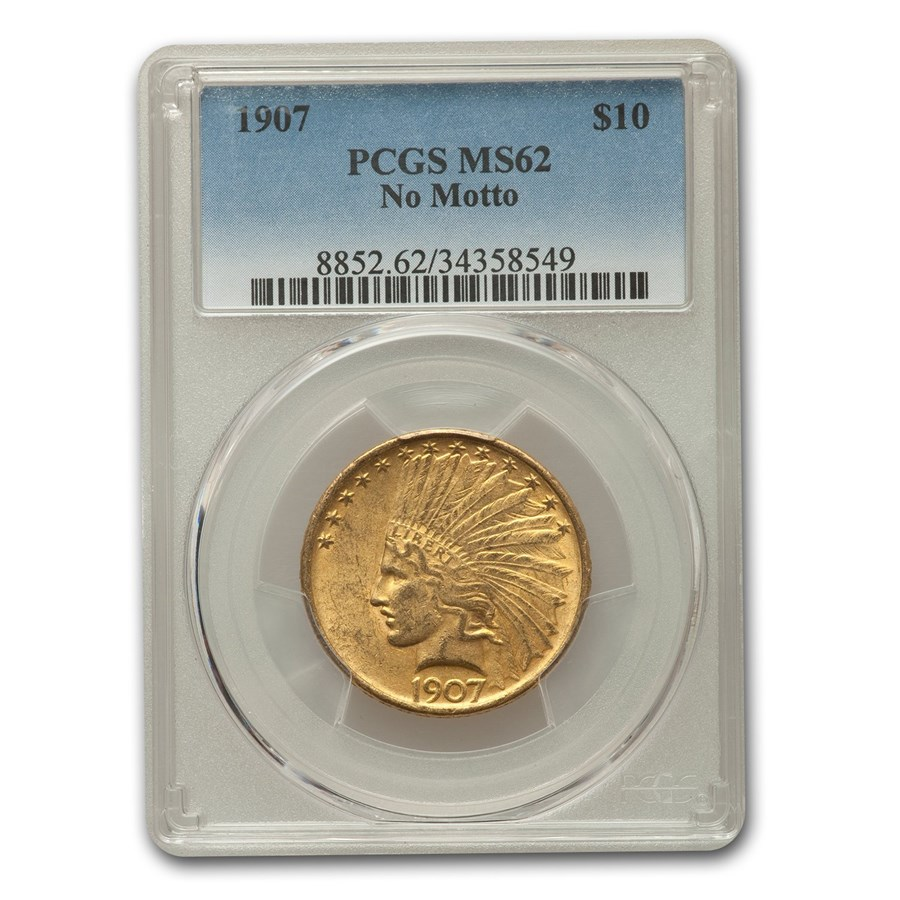 1907 $10 Indian Gold Eagle MS-62 PCGS (No Motto)