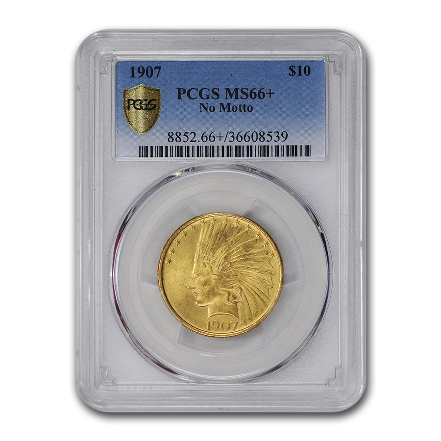 1907 $10 Indian Gold Eagle MS-66+ PCGS (No Motto)