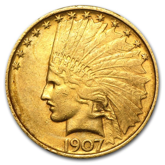 1907 $10 Indian Gold Eagle XF