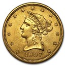 1907 $10 Liberty Gold Eagle AU