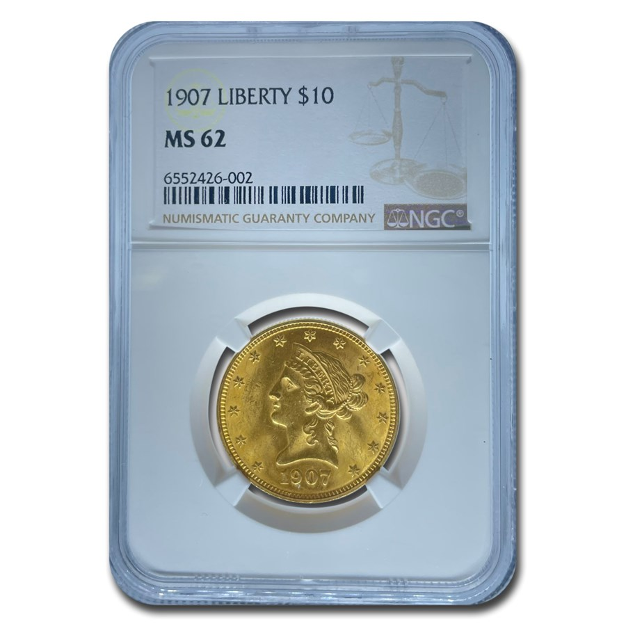 1907 $10 Liberty Gold Eagle MS-62 NGC