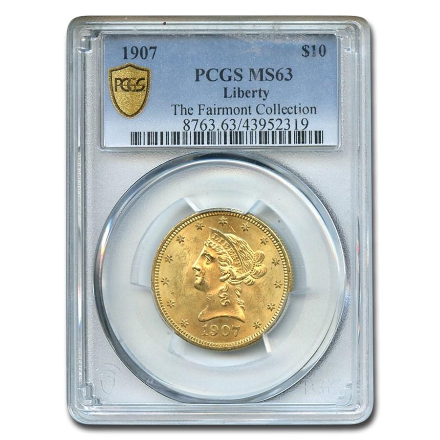 1907 $10 Liberty Gold Eagle MS-63 PCGS