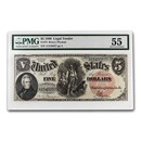 1907 $5.00 Legal Tender Woodchooper AU-55 PMG (Fr#73)