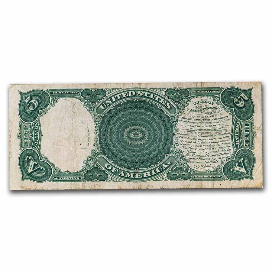 1907 $5.00 Legal Tender 'Woodchopper' Fine (Fr#87)