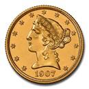 1907 $5 Liberty Gold Half Eagle PF-66 Cameo NGC