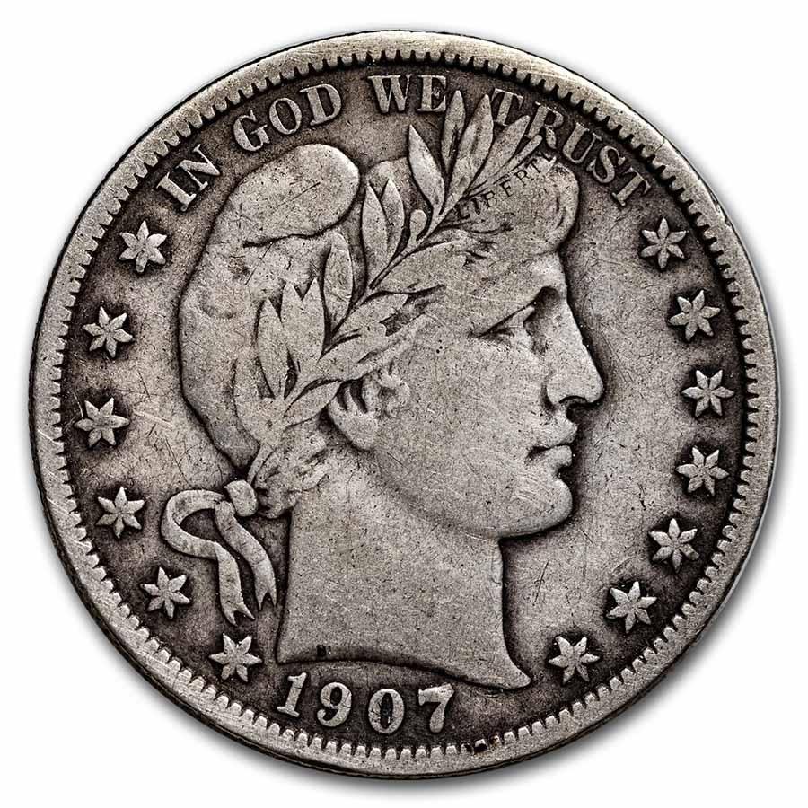 1907 Barber Half Dollar Fine