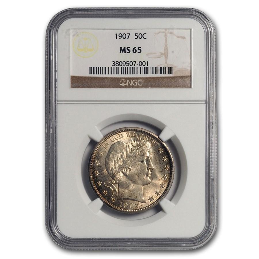 1907 Barber Half Dollar MS-65 NGC