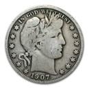 1907 Barber Half Dollar VG