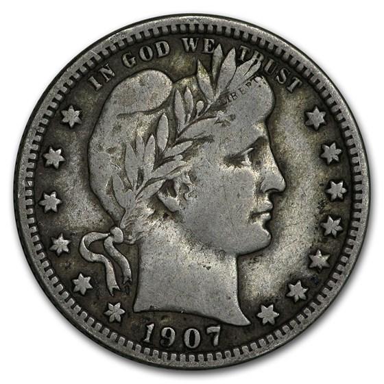1907 Barber Quarter Fine
