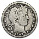 1907 Barber Quarter Good/VG