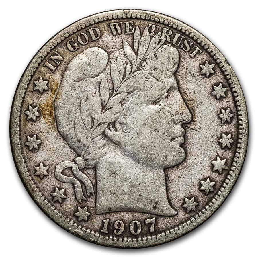 1907-D Barber Half Dollar Fine