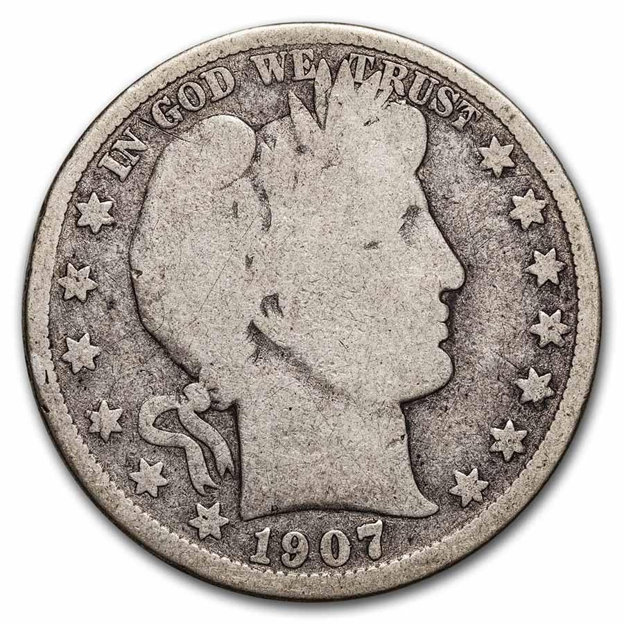 1907-D Barber Half Dollar Good