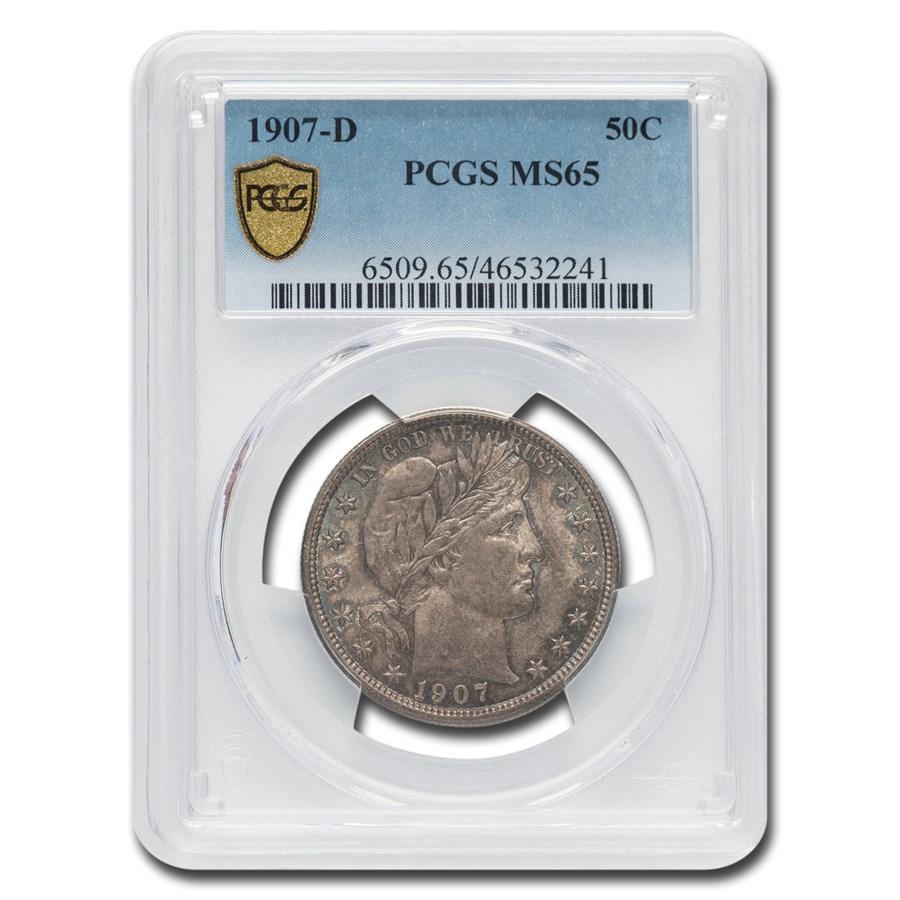 1907-D Barber Half Dollar MS-65 PCGS