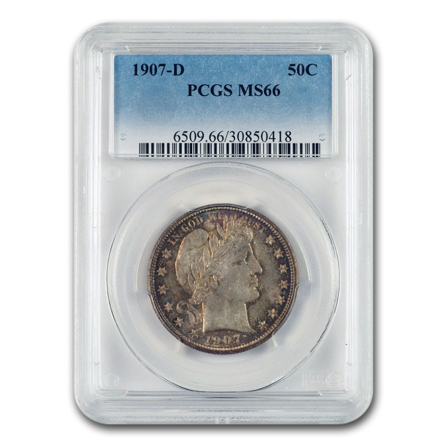 1907-D Barber Half Dollar MS-66 PCGS