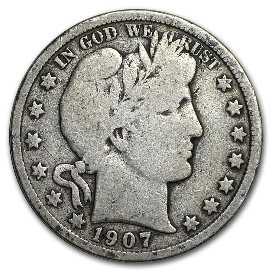 1907-D Barber Half Dollar VG
