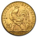 1907 France Gold 20 Francs Rooster BU