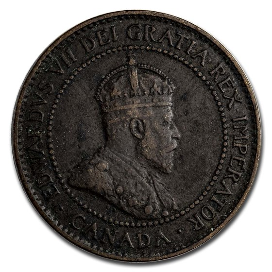 1907-H Canada Large Cent VF