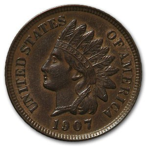 1907 Indian Head Cent AU
