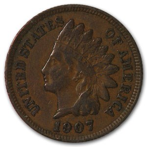 1907 Indian Head Cent VF
