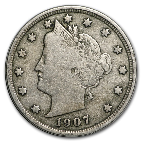 1907 Liberty Head V Nickel Fine