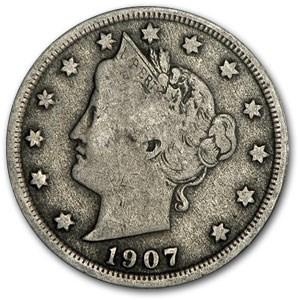 1907 Liberty Head V Nickel Good+