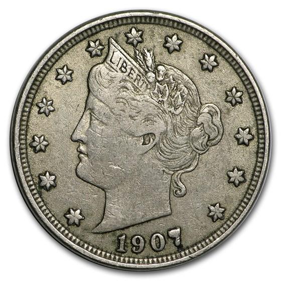 1907 Liberty Head V Nickel VF