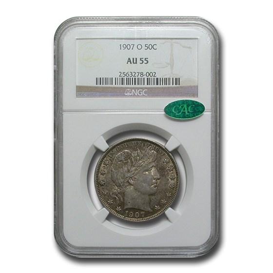 1907-O Barber Half Dollar AU-55 NGC CAC