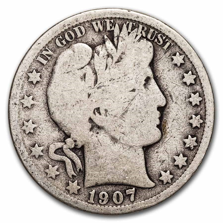 1907-O Barber Half Dollar Good
