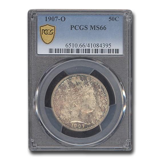 1907-O Barber Half Dollar MS-66 PCGS