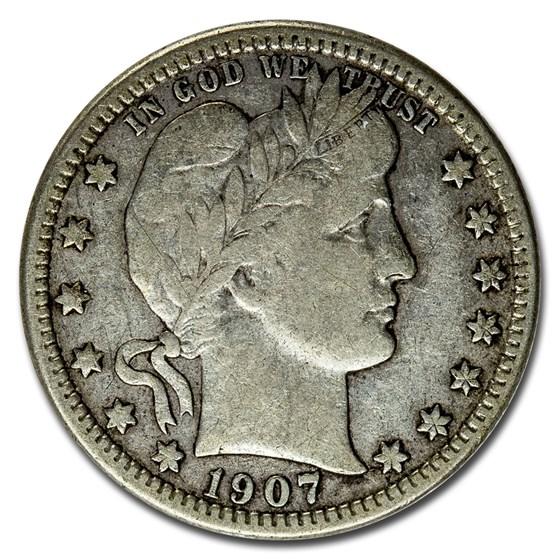 1907-O Barber Quarter Fine