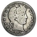 1907-O Barber Quarter Good