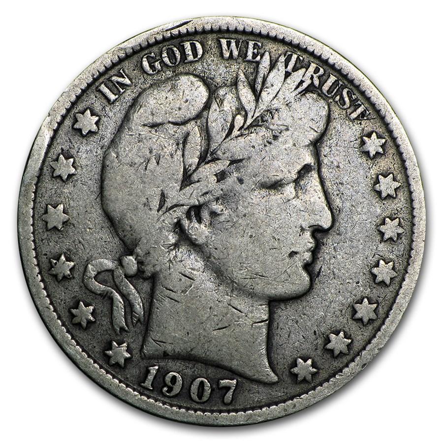 1907-S Barber Half Dollar Fine