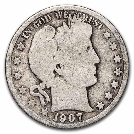 1907-S Barber Half Dollar Good